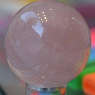 Sphère quartz rose