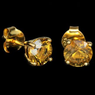 quartz cognac boucles d'oreille2