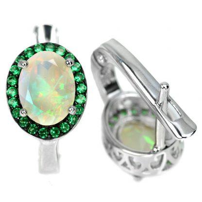 Boucle oreille opale rainbow